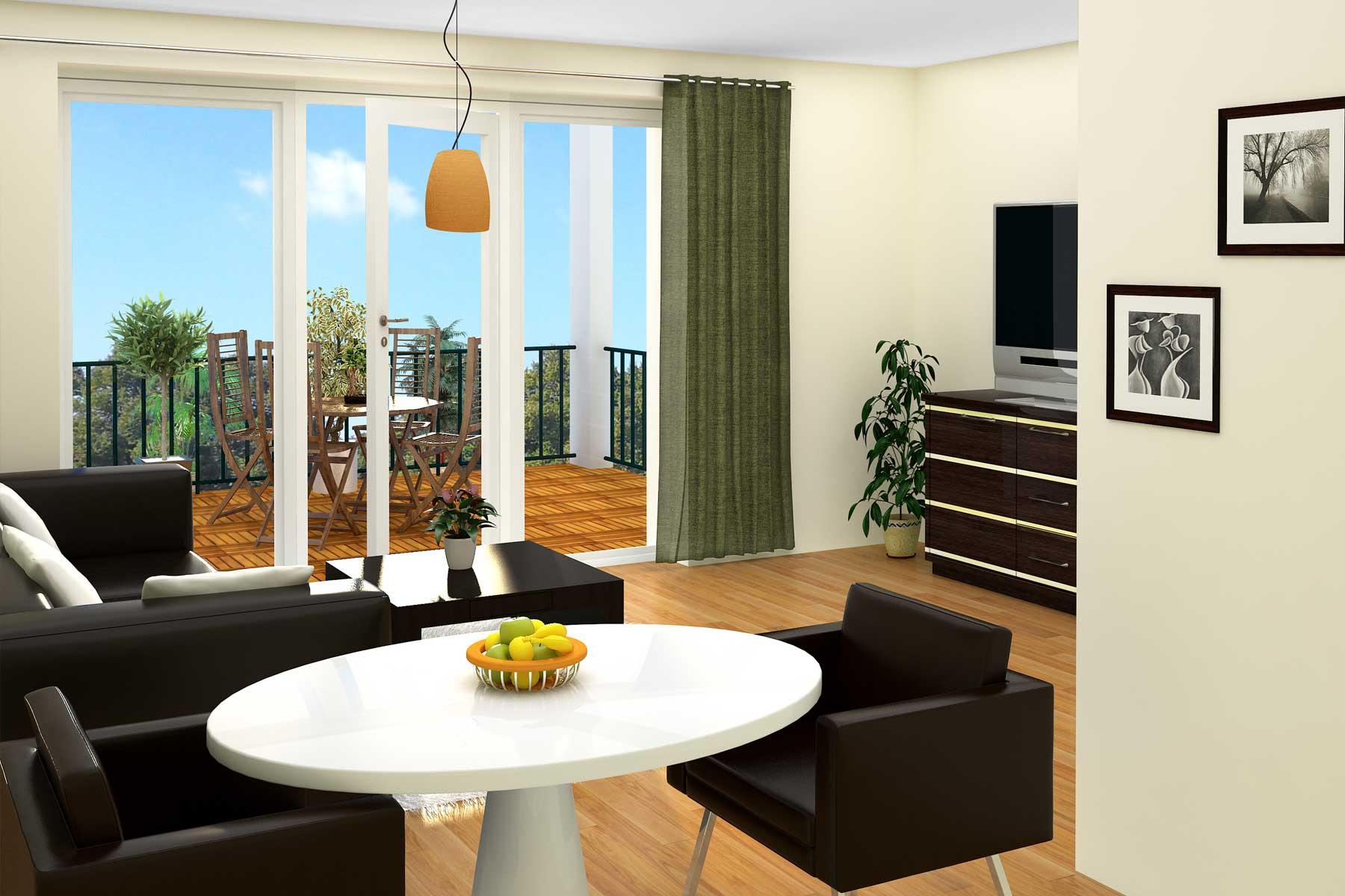 Wohnzimmer 2 Gestaltungsvariante